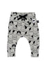 Puppy Love Drop Crotch Pant Grey Marle