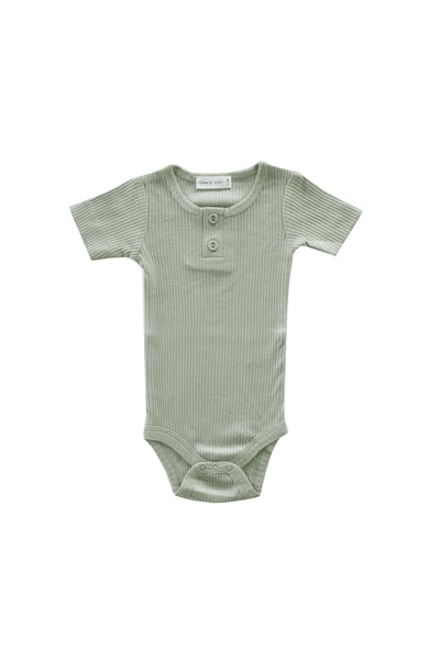 Cotton Modal Tee Bodysuit Sage
