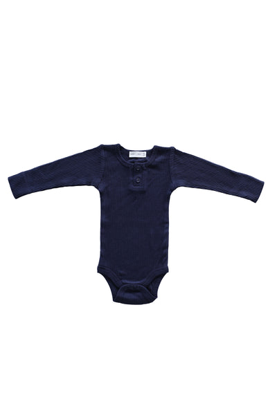 Cotton Modal Bodysuit Navy