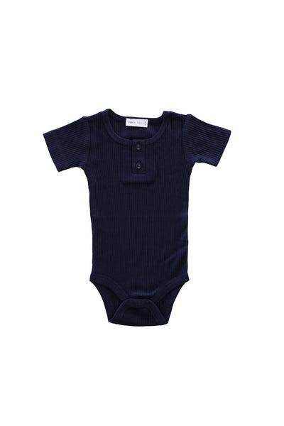 Cotton Modal Tee Bodysuit Navy