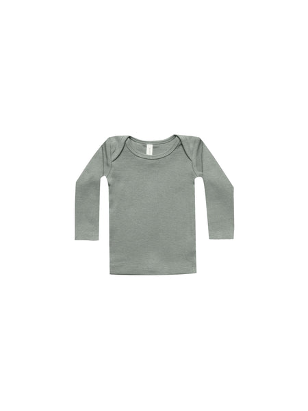 Ribbed Long Sleeve Lap Tee Eucalyptus