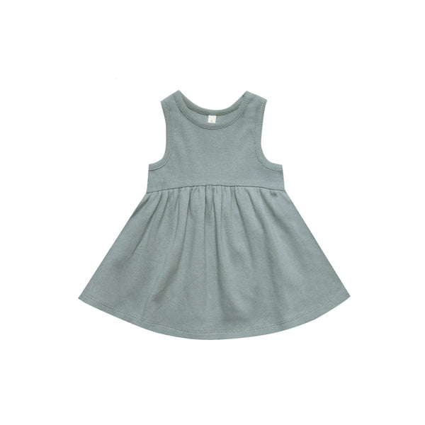 Ribbed Short Sleeve Dress Eucalyptus
