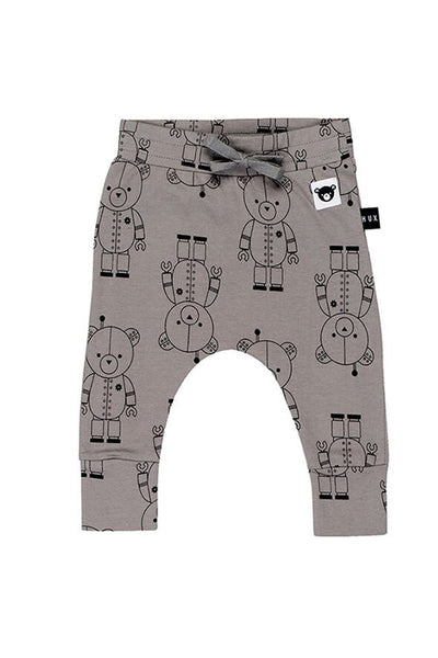Robo Bear Drop Crotch Pant Stone