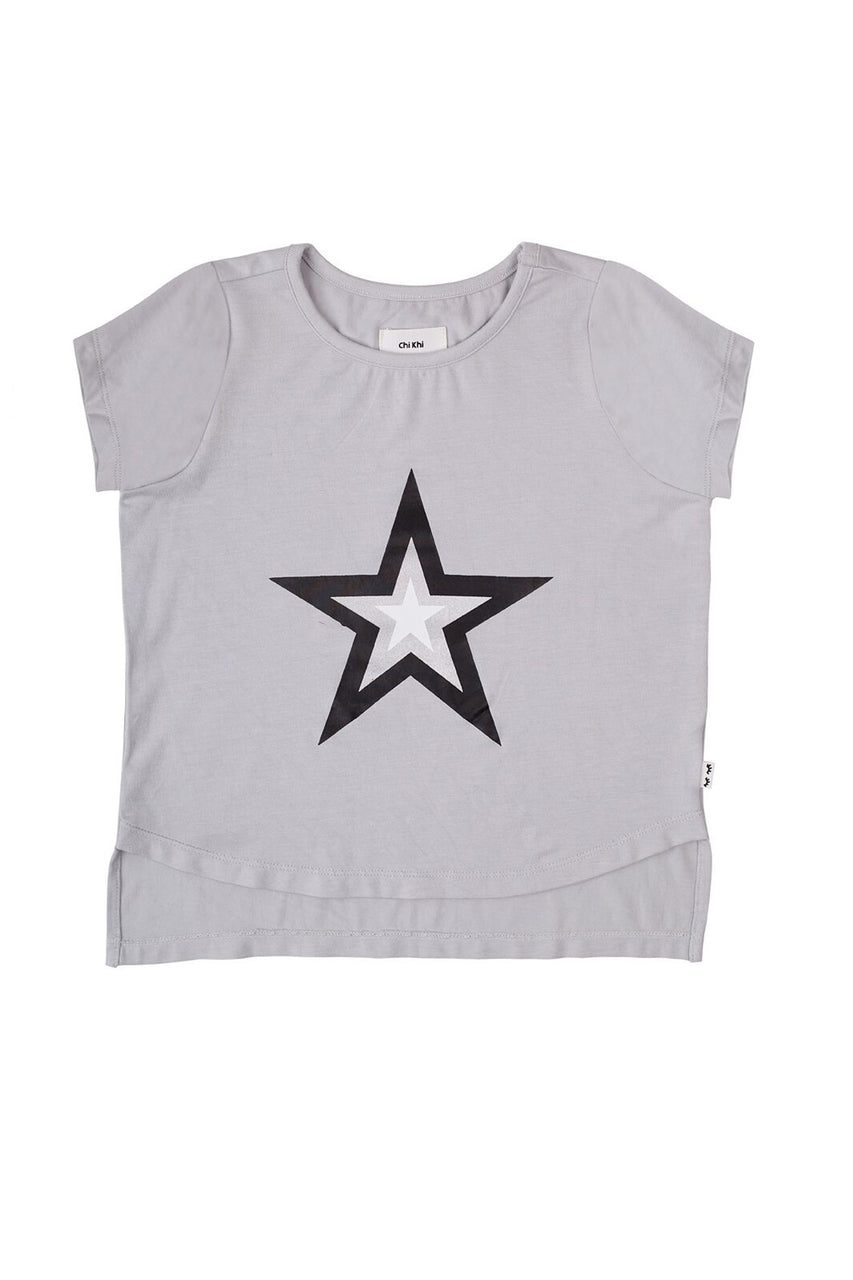 Rollin Tee Light Grey Star