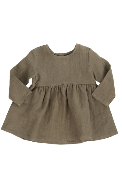 Seasons Dress Olive Linen