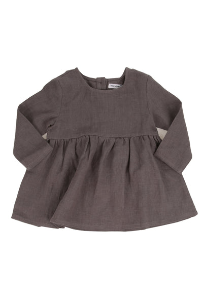 Seasons Dress Storm Grey Linen