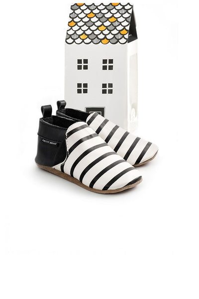 Slip On Black & White Stripe