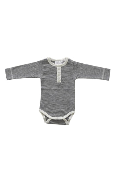 Thomas Stripe Bodysuit Oatmeal Navy