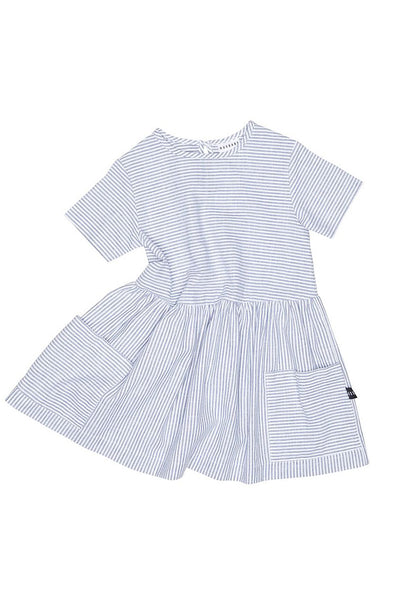 Stripe Darcy Dress Navy White