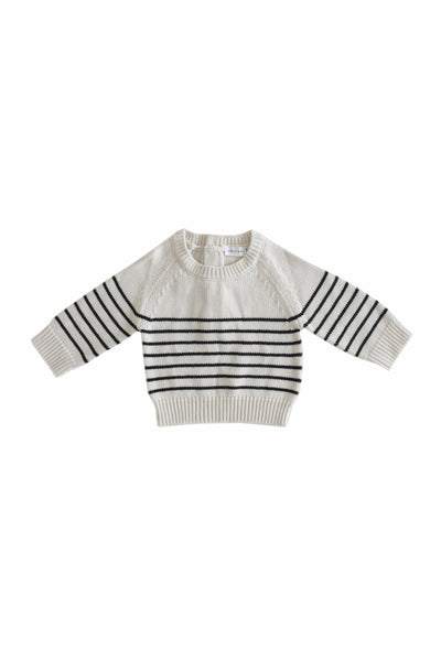 Stripe Knit Oatmeal Marle