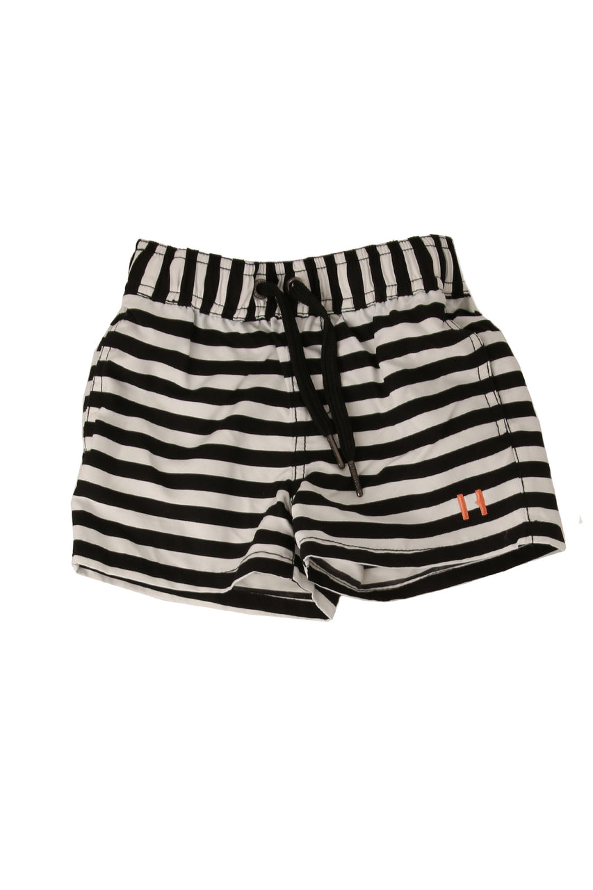 Stripe Swim Shorts Black