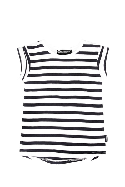 Striped Tee Dress Navy Stripe