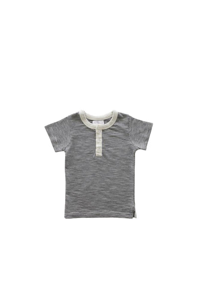 Thomas Stripe Tee Oatmeal Navy