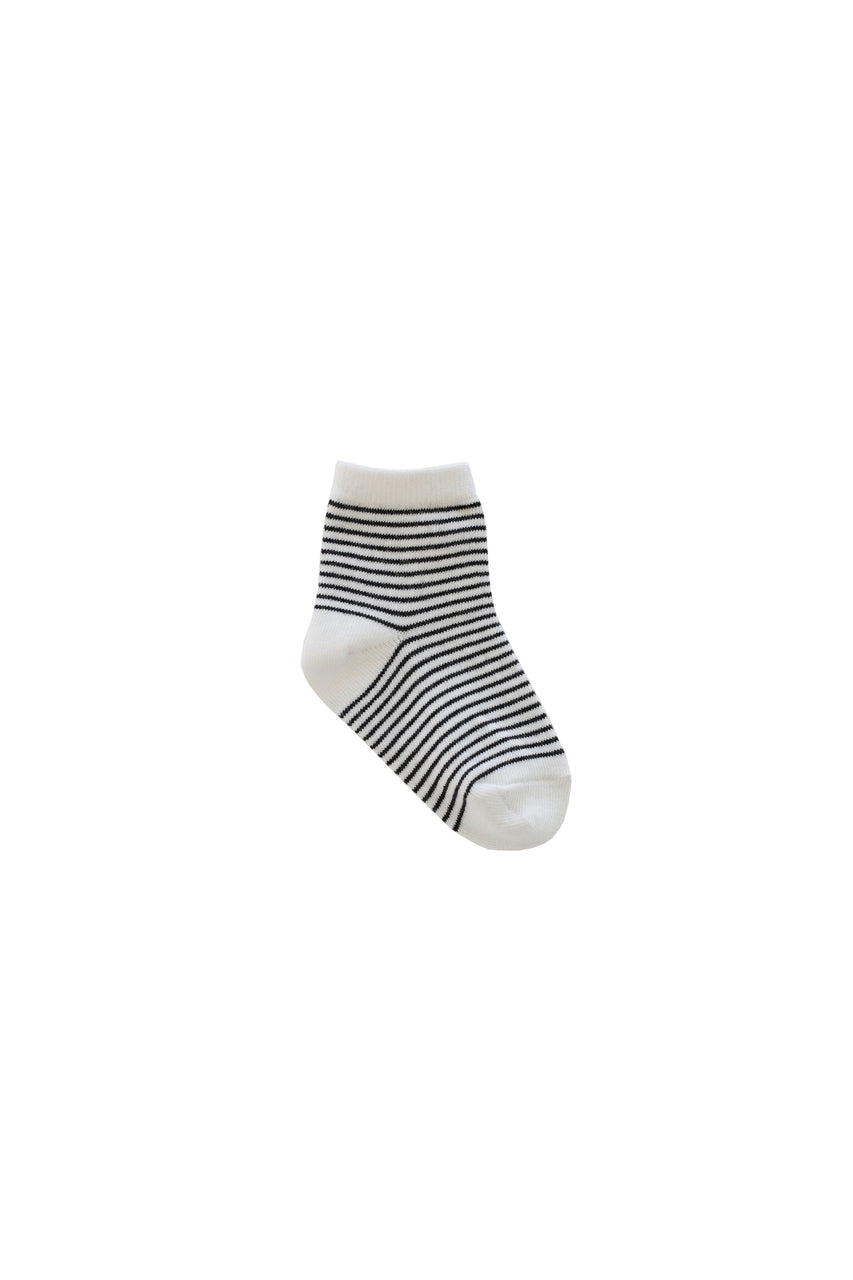 Stripe Sock Ink Cloud