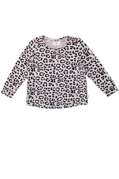 The J Tee Light Grey Leopard