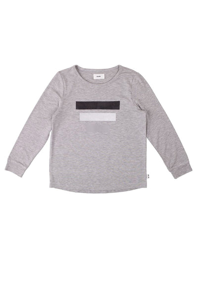 The J Tee Grey Marle Three Block