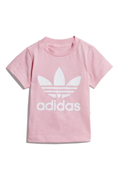 Trefoil Tee Light Pink White
