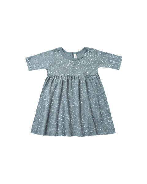 Snow Finn Dress Dusty Blue