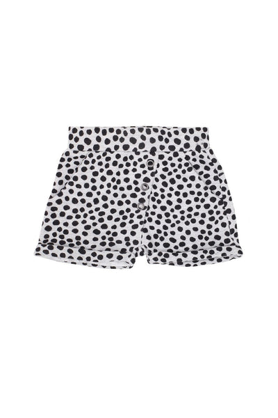 Wrap Short Light Grey Marle Spot