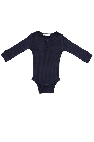 Original Cotton Modal Bodysuit Dark Grey