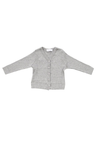 Original Cotton Modal Cardi Light Grey Marle