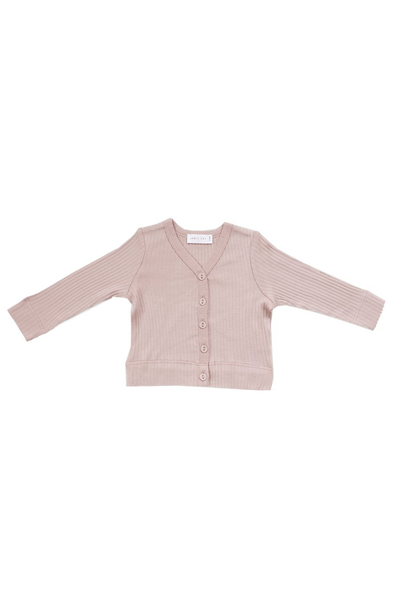 Original Cotton Modal Cardi Rose Smoke