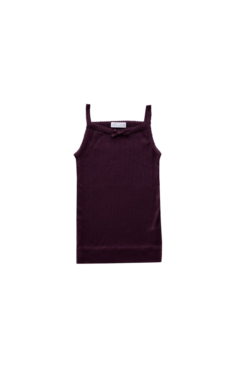 Cotton modal Singlet Mulberry