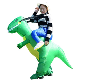 YIHONG Halloween Inflatable Dinosaur T-REX Costume - Blow Up Costumes for Adults Green
