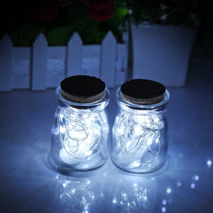 Set of 6 Fairy String Lights Powered by Coin Battery (included), Cool White