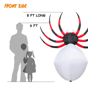 YIHONG 8 Ft Long Halloween Inflatables Projection Kaleidoscope LED Lights Spider Decorations - Blow up Party Decor for Indoor Outdoor Yard