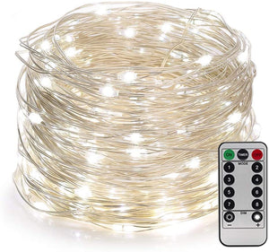 YIHONG 66ft 200LEDs Fairy String Lights USB Powered,8 Modes Remote Control Twinkle Lights with Timer Firefly Lights for Garden Patio Bedroom Indoor Decor - White