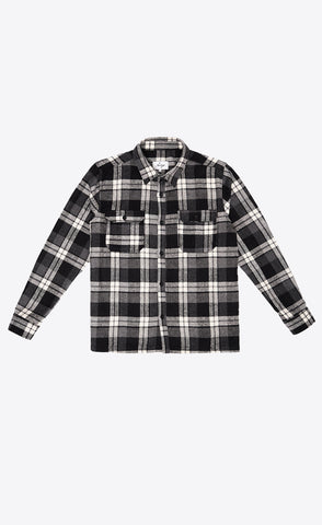 FLANNEL SHIRT - GREY - Forage-Clothing