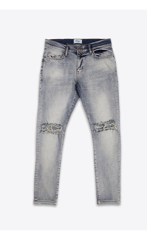DESTROYED SKINNY JEANS - LIGHT BLUE - Forage-Clothing