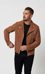 SUEDE LEATHER JACKET - TAUPE - Forage-Clothing