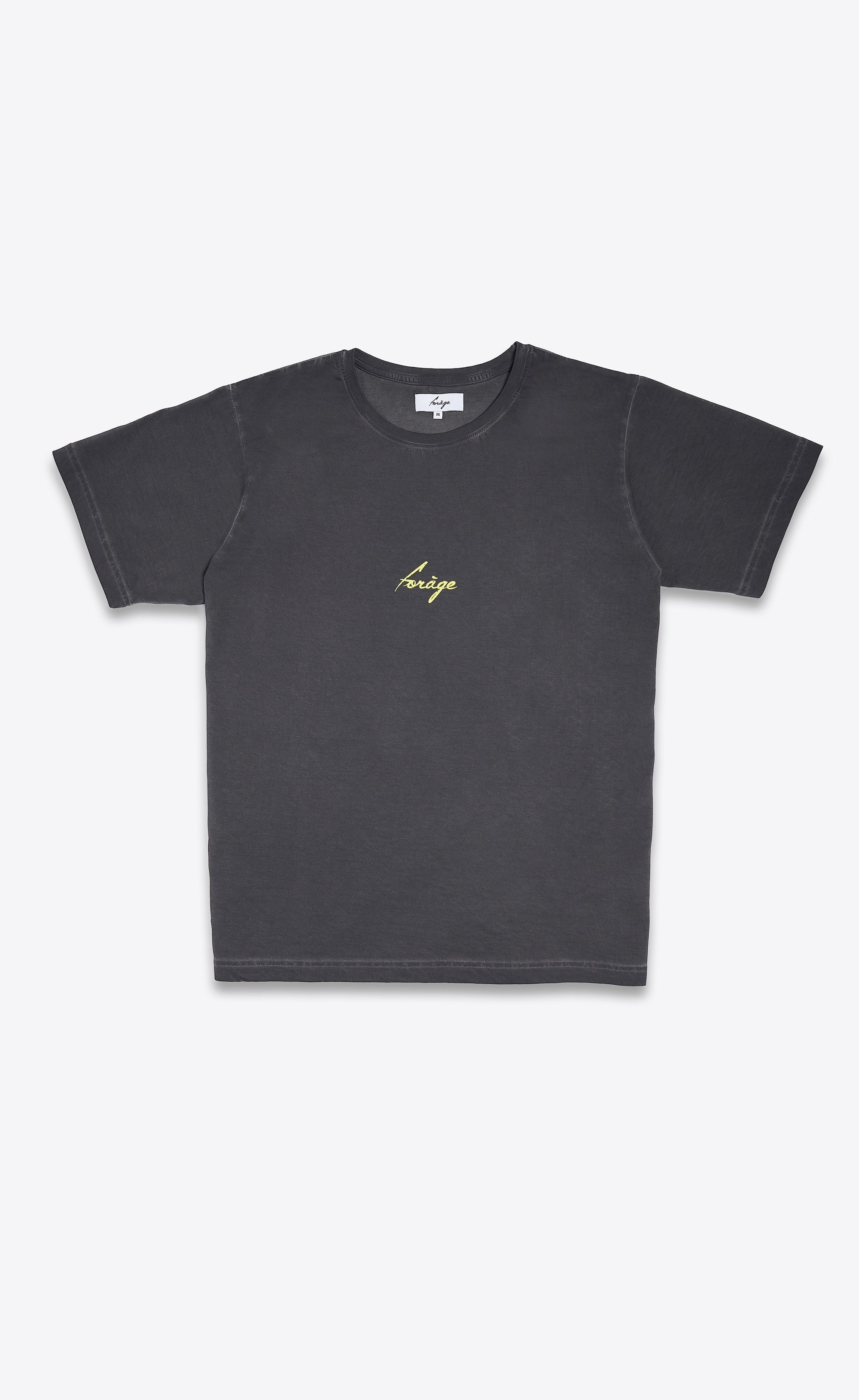 FORAGE LOGO SHIRT - MINIMAL YELLOW - Forage-Clothing