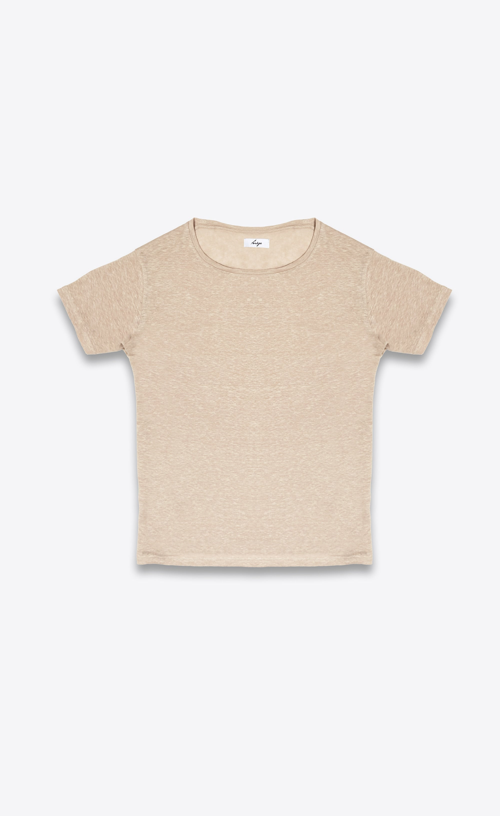 LINEN T-SHIRT - CAMEL - Forage-Clothing