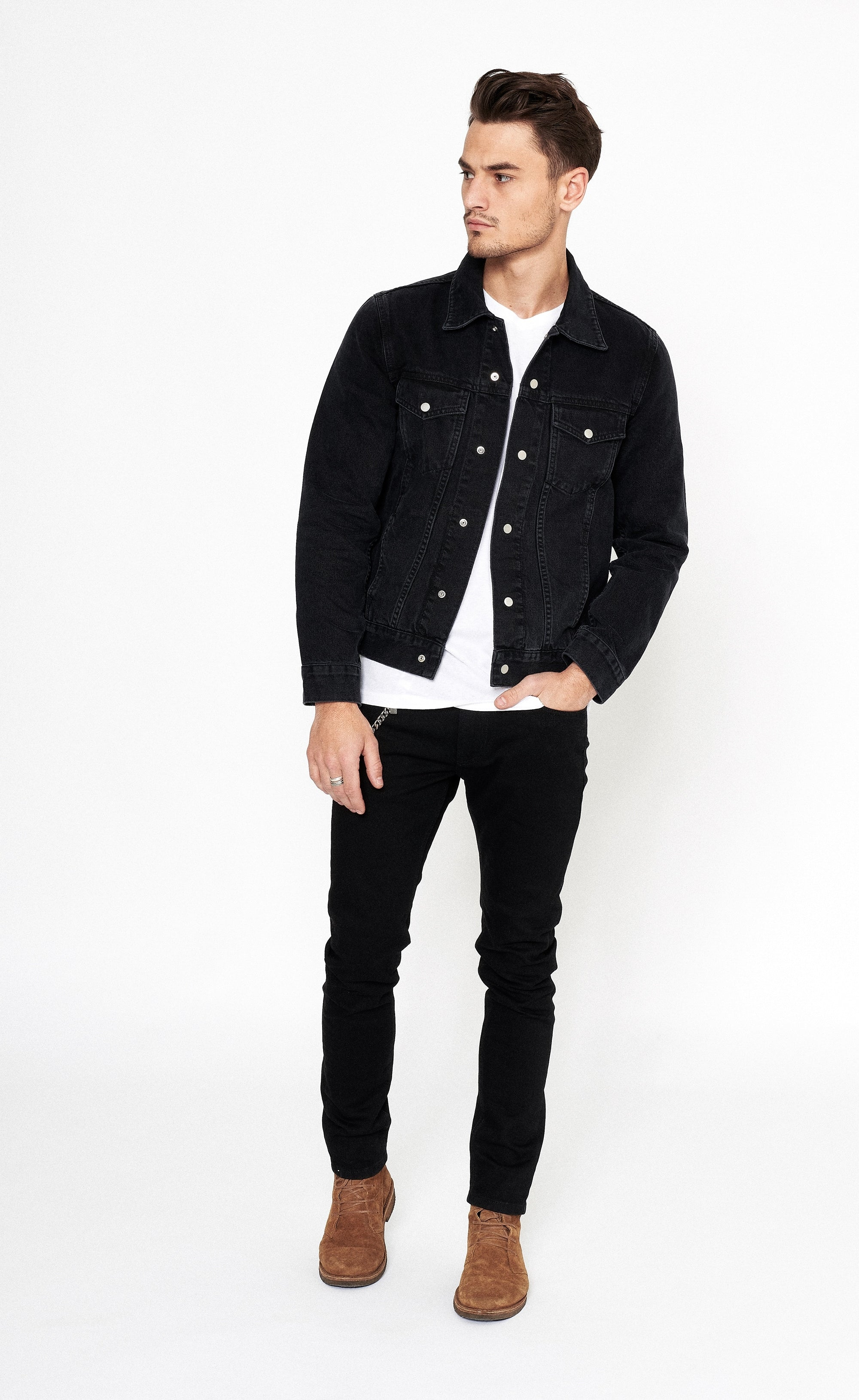 CLASSIC DENIM JACKET - BLACK - Forage-Clothing
