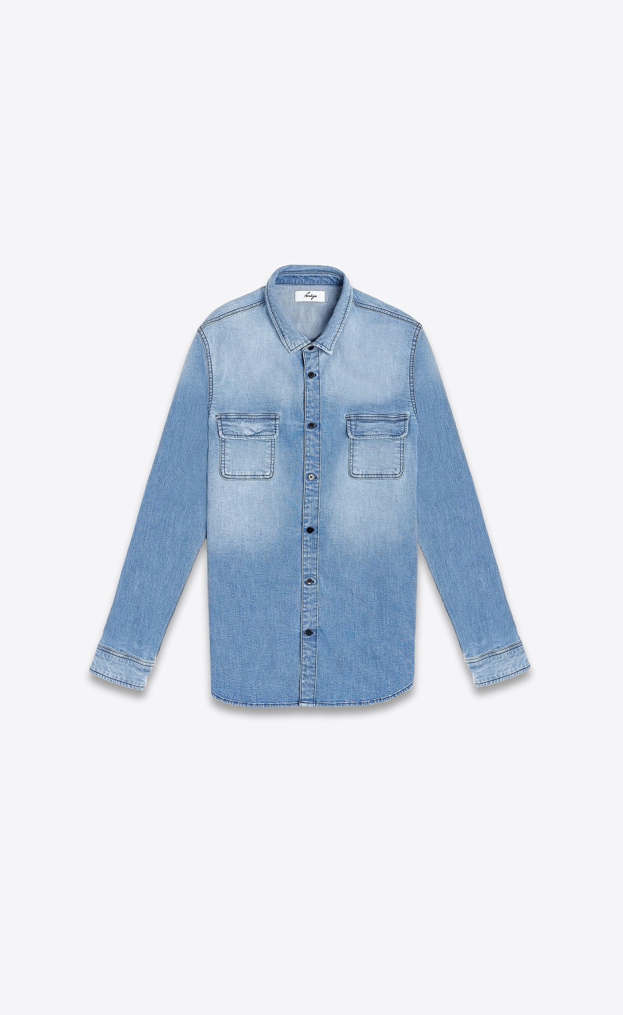 CLASSIC DENIM SHIRT - BLUE - Forage-Clothing