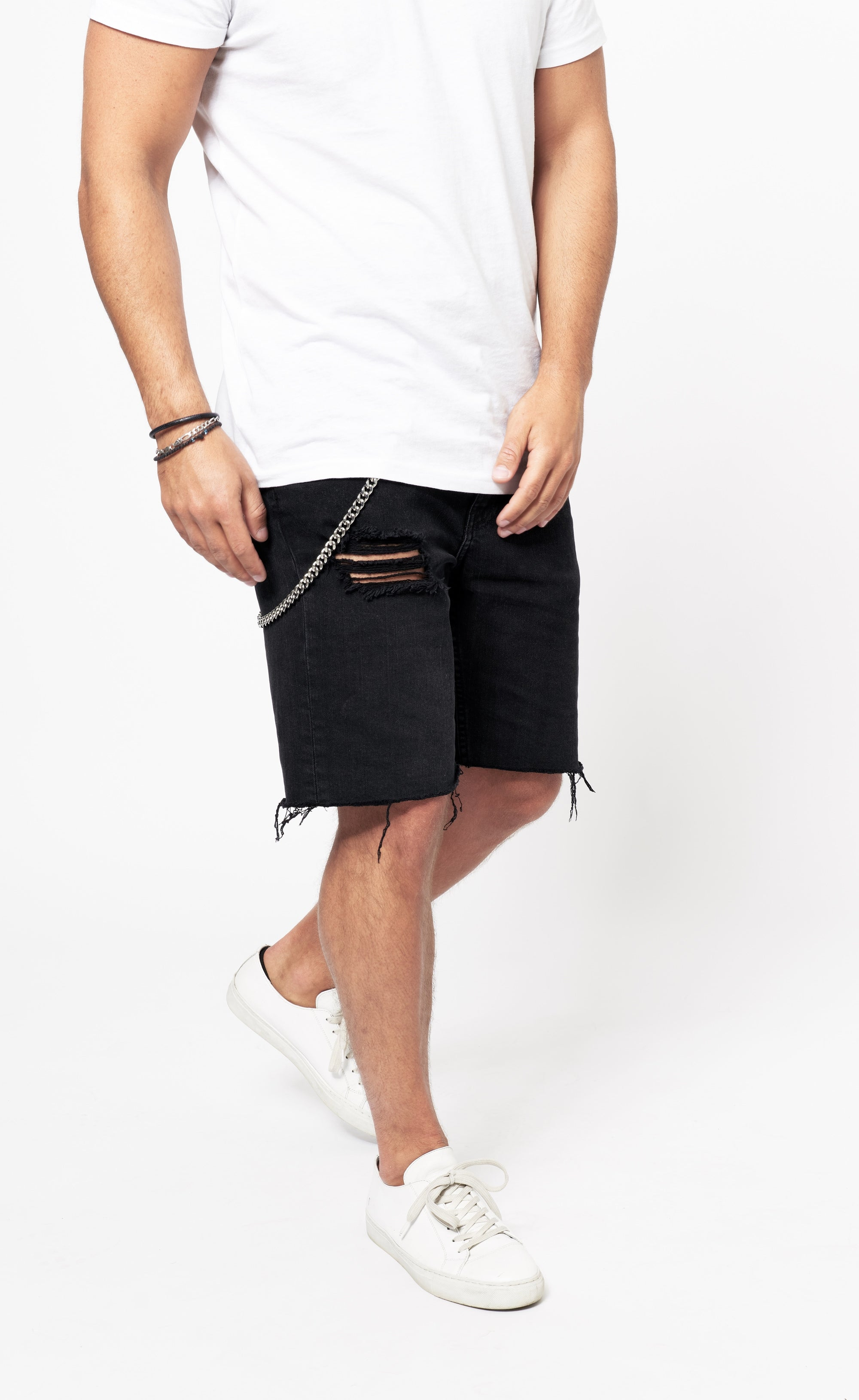 CLASSIC DENIM SHORTS -  BLACK - Forage-Clothing
