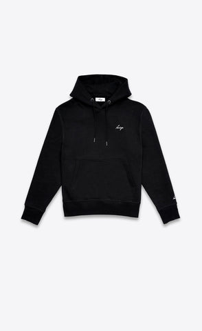 CLASSIC LOGO HOODIE - BLACK - Forage-Clothing