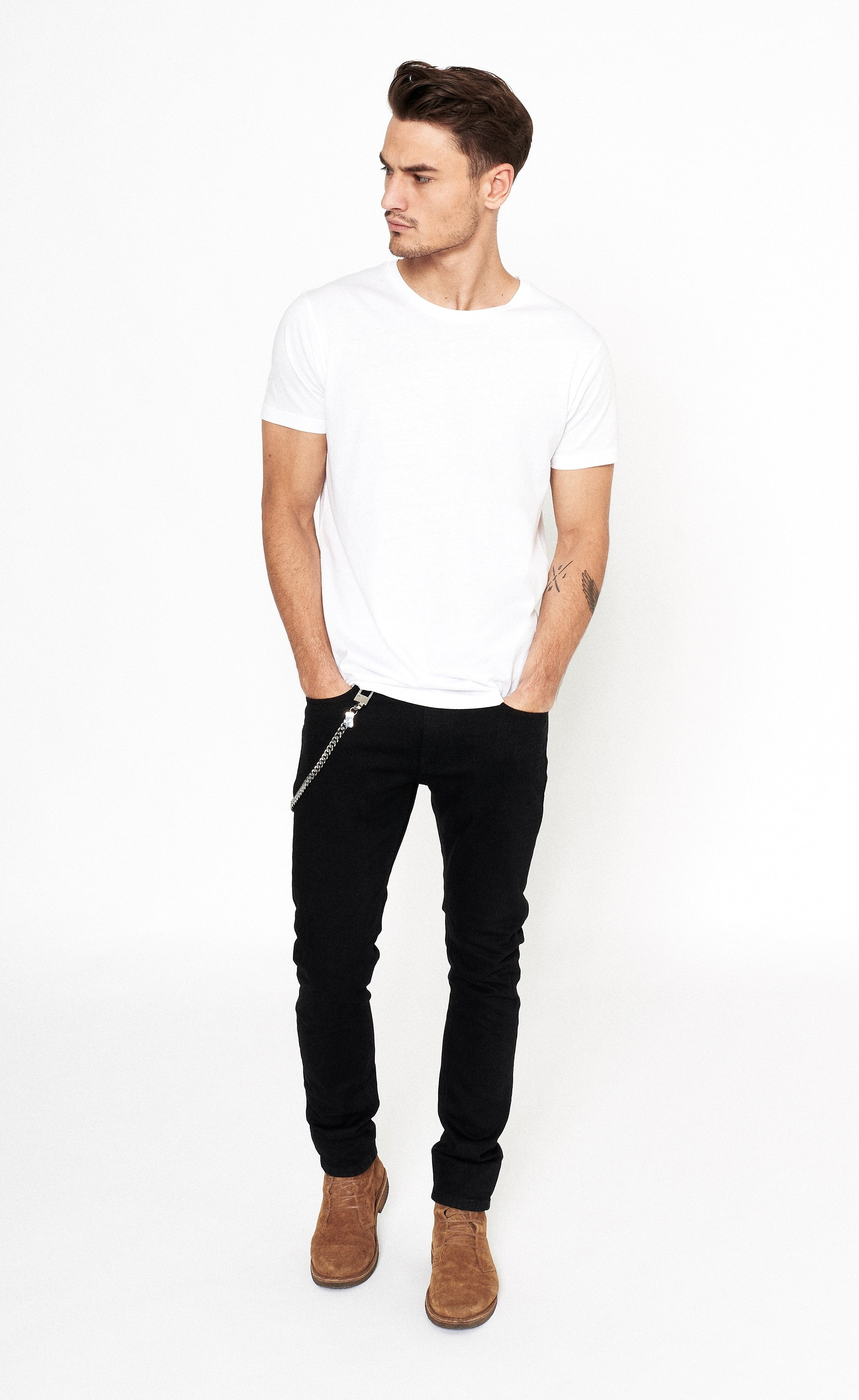 CLASSIC SKINNY JEANS - BLACK - Forage-Clothing
