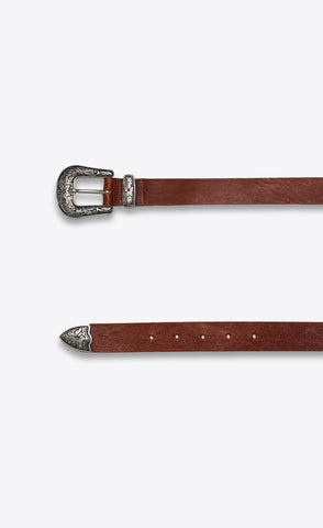 WESTERN BELT - VINTAGE BROWN - Forage-Clothing