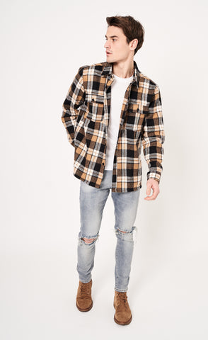 FLANNEL SHIRT - BROWN - Forage-Clothing