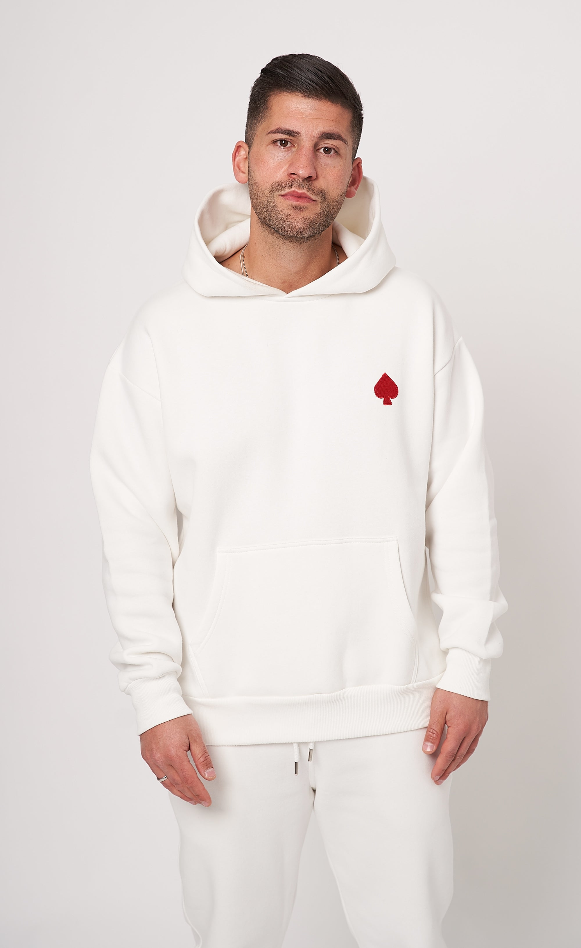OVERSIZE HOODIE - OFF WHITE