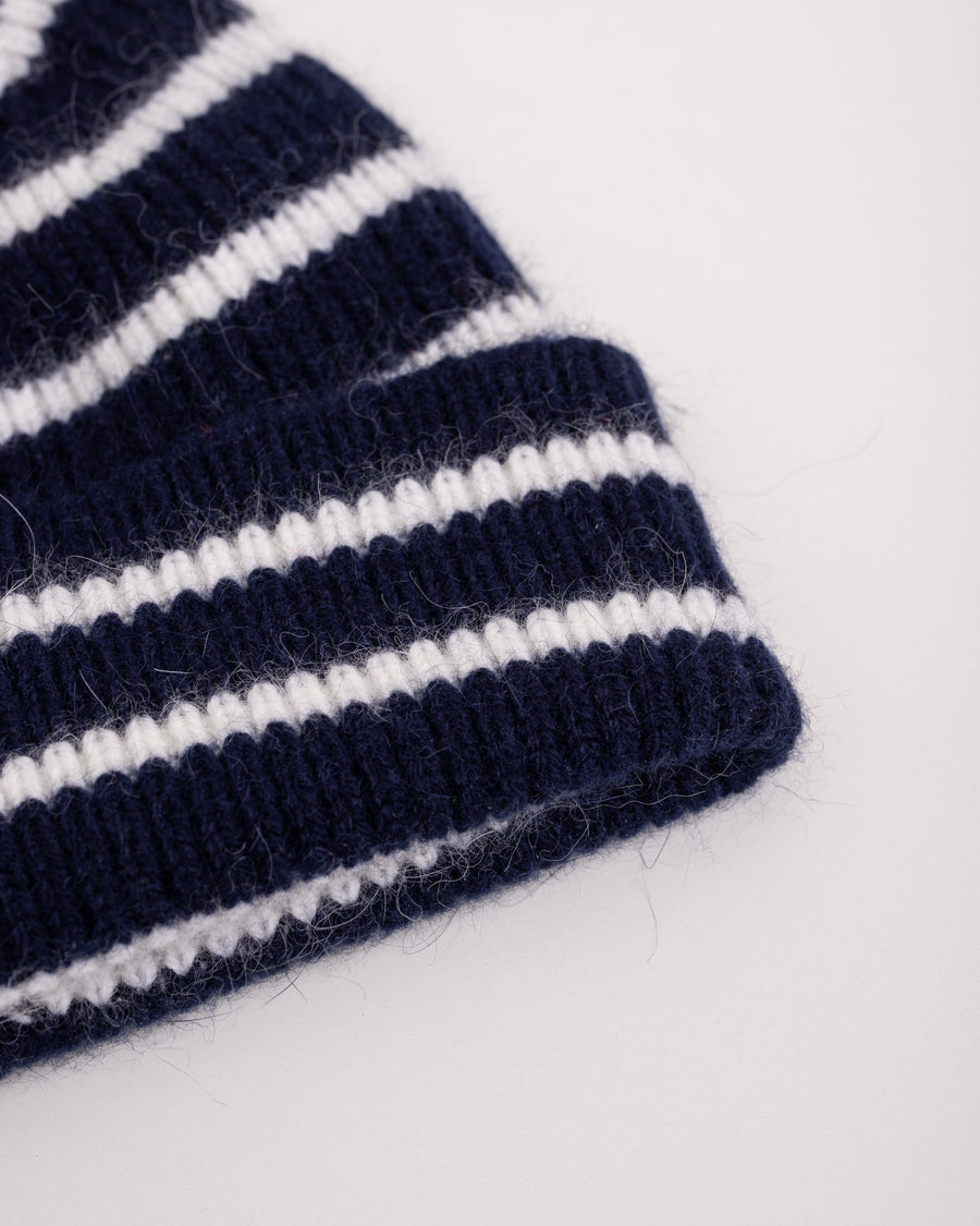 Le Bonnet Mütze midnight stripes