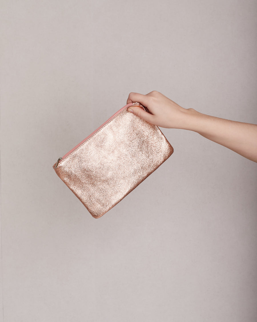 jackieandkate Clutch rose metallic