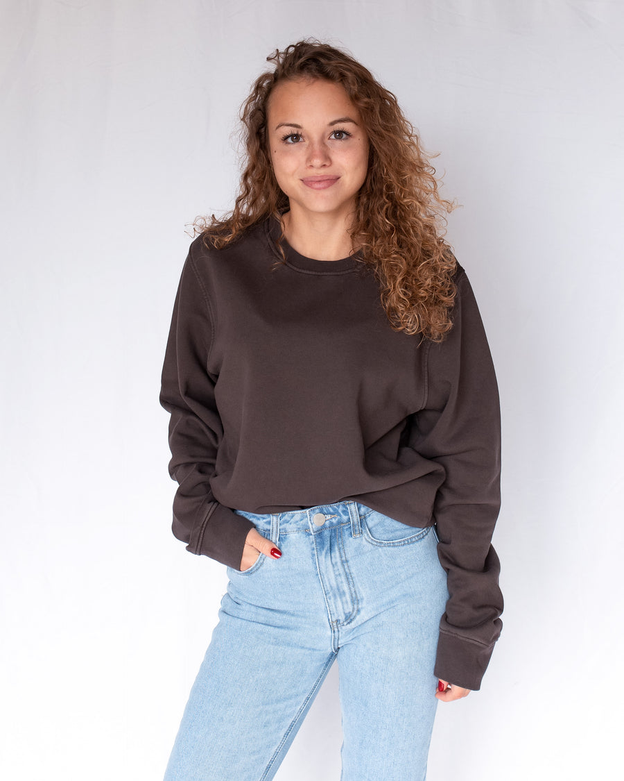 Colorful Standard Crew Pullover CS1005 coffee brown