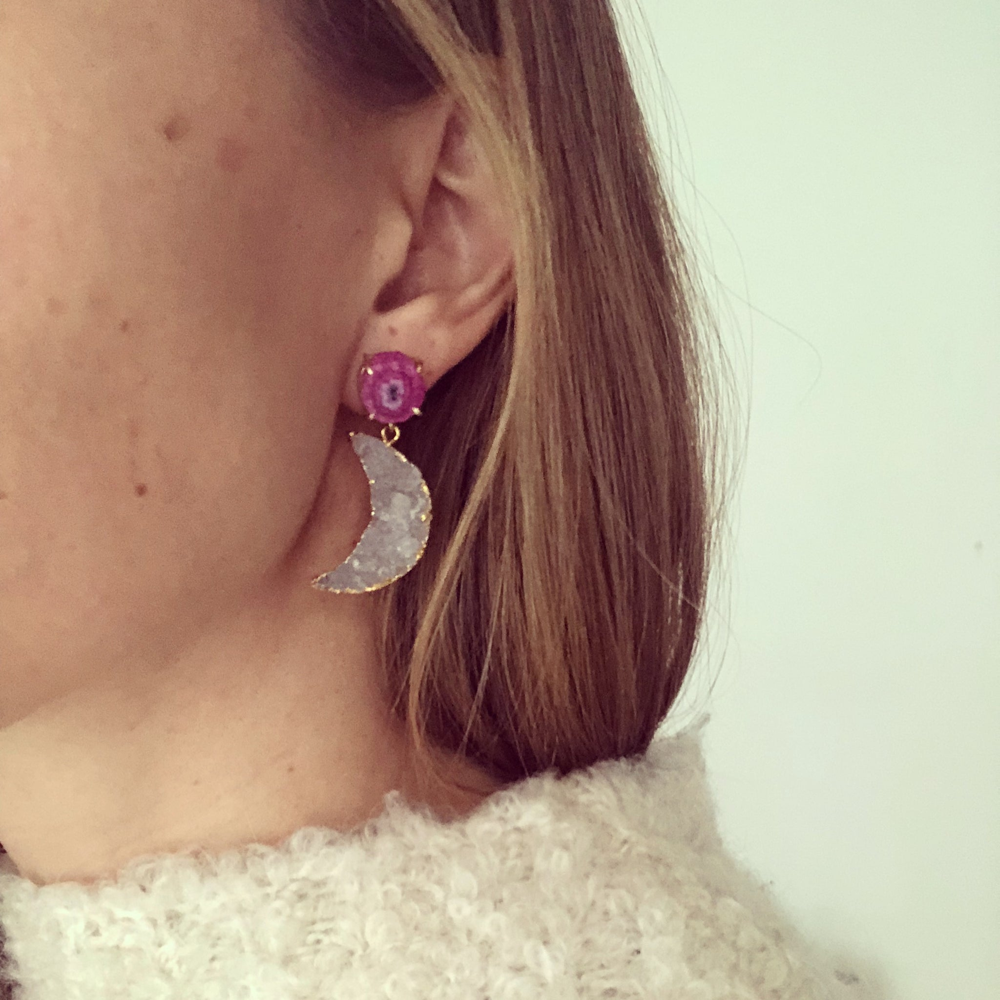 La Luna Lavendel Earrings
