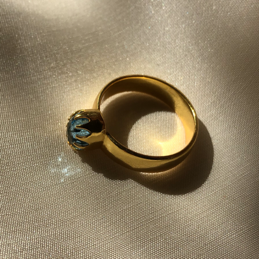 The Blue Bezel Ring