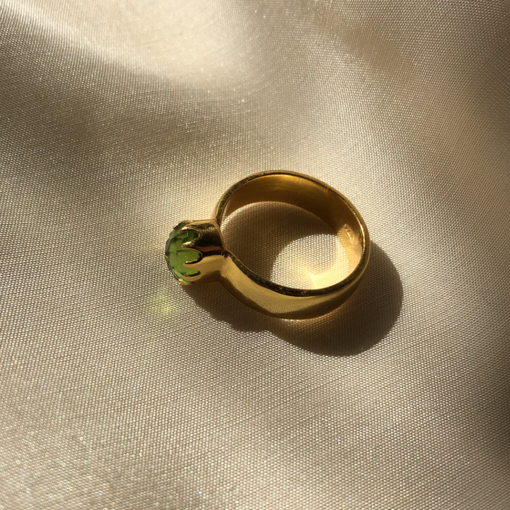 The Green Bezel Ring